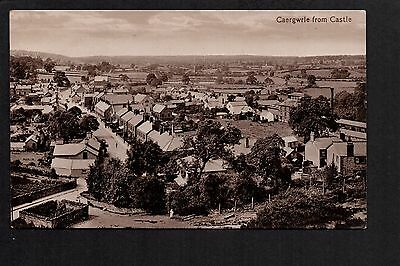 Caergwrle from Castle - printed photographic postcard