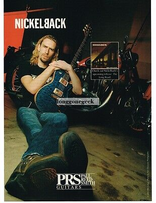 2003 PRS  Electric Guitar CHAD KROEGER of Nickelback Vtg Print Ad