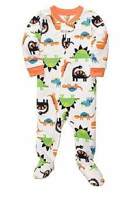 NWT Carters Dinosaur Micro Fleece Zip Up Pajamas Sleeper One Piece Dino 3T NEW