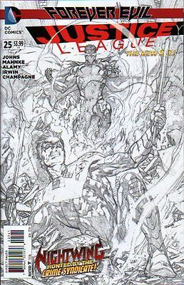 Justice League #25 Black and White Sketch Variant 1:100 (Forever Evil)