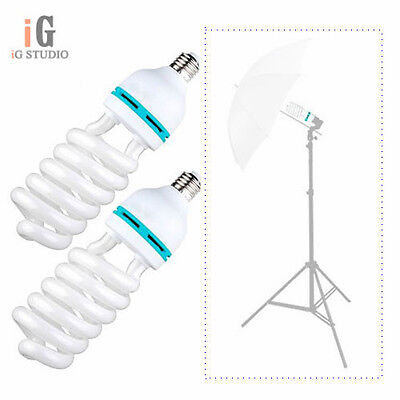 2x 135watt 135W 220v 5500K lighting bulb for Photography Studio Light Lamp photo