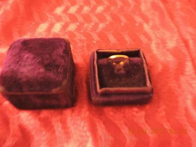 Antique BDA Budlong Docherty Armstrong 10k Gold Band Child's Baby Ring W/Box