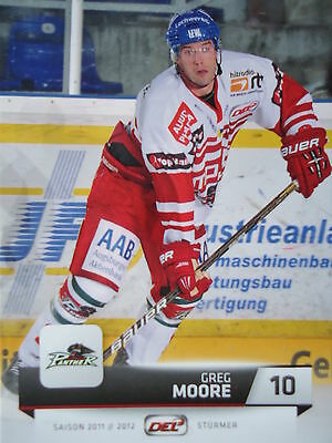 010 Greg Moore Augsburger Panther DEL 2011-12