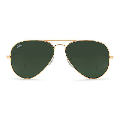 Ray-Ban Aviator Classic Sunglasses 58mm (Gold Frame / Green Classic G-15 Lens)
