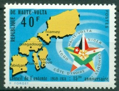 Burkina Faso Scott #331 MNH Council of Accord Map $$