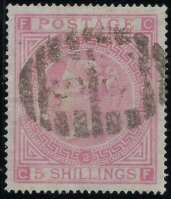 GREAT BRITAIN 1867 #57a, S/G #127, USED/LH  Plate 2, WMK 26 Clean Superb Rare 5s