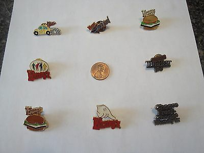 Wendy's Employee Lapel Pin Lot of 8