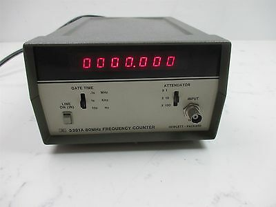 HP Hewlett Packard 5381A 80MHz Frequency Counter Quality Clean Unit Little Use