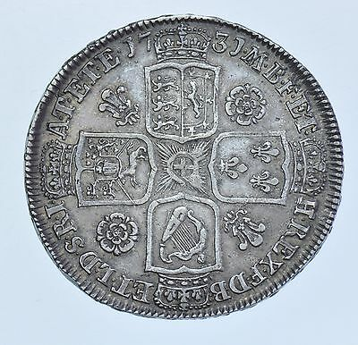 1731 Halfcrown British Silver Coin From George Ii Gvf
