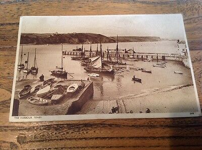 Old Postcard The Harbour Tenby