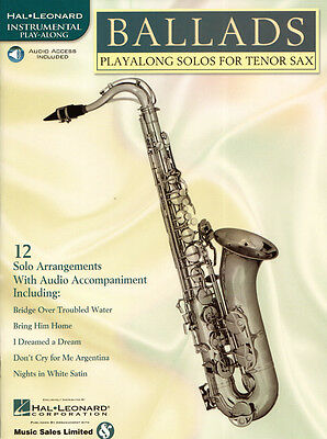 12 Pop Balladen Play-Along Tenor Sax Tenor-Saxofon Noten mit Download Code