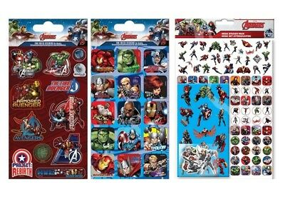 MARVEL AVENGERS - Colouring Stickers Activity Books Pads Sheets Kids Party Xmas