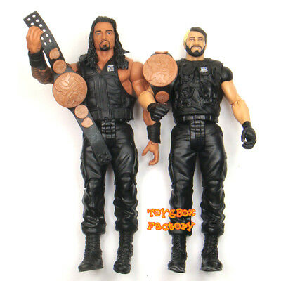 WWE Roman Reigns & Seth Rollins The Shield Tag Team Wrestling Action Figure Toy
