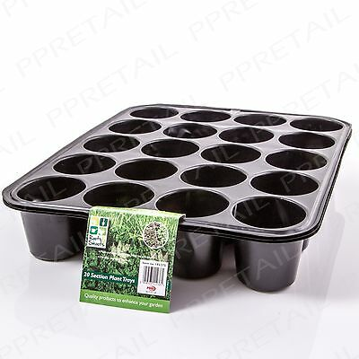 3 x PLANT TRAY 20 CELL Garden Seed Flower Potting Seedlings Cuttings Sowing Pot