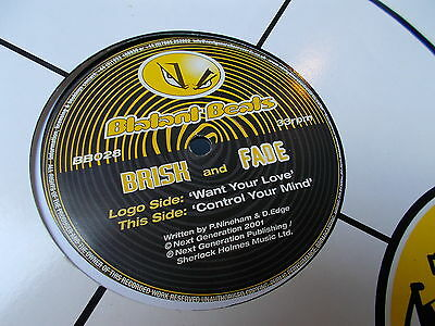 "Brisk & Fade Want Your Love / Control Your Mind 12"" Blatant Beats 2001 BB028"