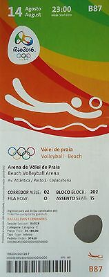 TICKET 14.8.2016 Olympia Rio Beach Volleyball # B87