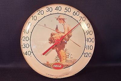 "Vintage Tru Temp Coca Cola Normal Rockwell Jumbo Dial Convex 12"" THERMOMETER"