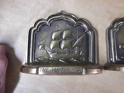 "Fabulous Pair of Vintage ""MAYFLOWER"" Bookends"