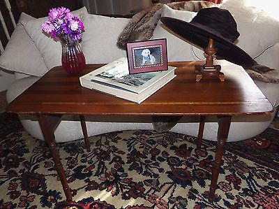 "Antique Late 1800's Wooden Folding Sewing Table Built In Measure 42"" Long VNC"