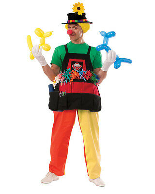 Adult's Colorful Professional Circus Clown Balloon Apron Costume Accessory