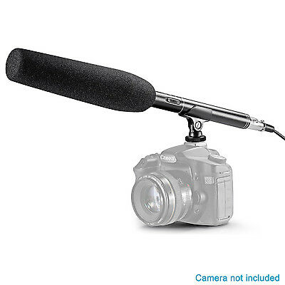 Neewer NW-81 Pro Condenser Microphone with Cleaning Kit for Canon Nikon Sony