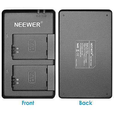 Neewer 2pcs 1100mAh Replacement Battery for Sony FW50 with USB Dual Charger