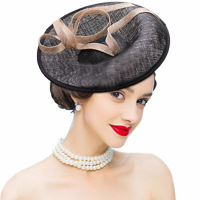 Womens Fascinator Cocktail Hat sinamay Kentucky Derby Church Wedding Party A335