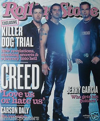 """CREED """"GROUP ON THE COVER OF 2002 ROLLING STONE"""" POSTER-Scott Stapp, Alterbridge"""