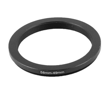 58mm-49mm 58mm to 49mm Step Down Ring Adapter Black for Camera Lens Filter