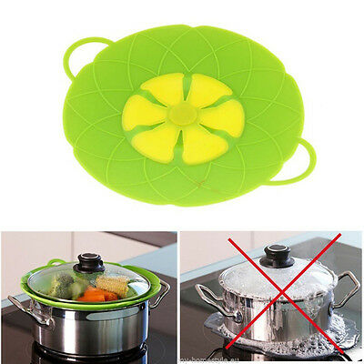 Silicone Spill Stopper Lid Pan Pot Cover Overflows Boil Kitchen Cooking Gadgets
