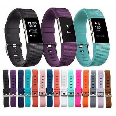 For Fitbit Charge 2 Band Secure Strap Wristband Metal Buckle Replacement