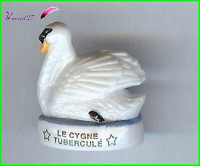 "Feve de collection Oiseau Bird Edition Atlas "" Le Cygne tuberculé "" Swan  #F9"