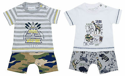 Boys Baby Wild One Teepee Safari all in One Romper Playsuit Newborn to 12 Months
