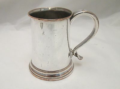 A Good Old Sheffield Plated Tankard - c1800 - Wooden Base