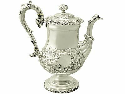 Antique, Sterling Silver Coffee Pot by Waterhouse, Hodson & Co, George IV