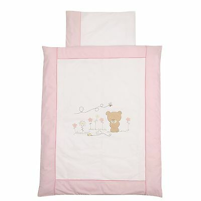 Easy-Baby Bettwäsche 80x80 / 35x40 cm  Honey bear rose 415-42 NEU