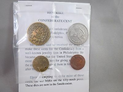 Restrike Civil War Confederate Coins Cent Half Dollar Gold Csa States Of America