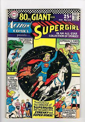 Action Comics # 334  Supergirl 80 page giant # grade 5.0 scarce book !!