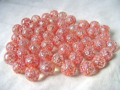 NEW 50 PRINCESS 14mm STUDDED GLASS MARBLES TRADITIONAL COLLECTORS ITEMS