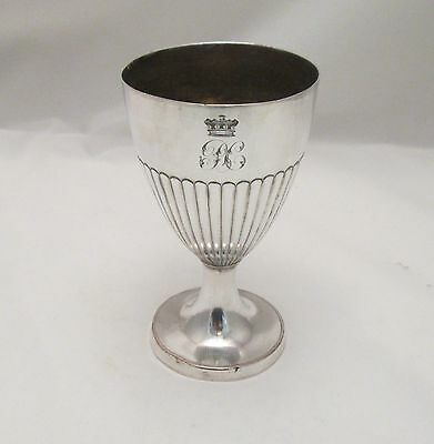 A Fine Old Sheffield Plated Goblet / Cup c1780 - Baronet's Crown