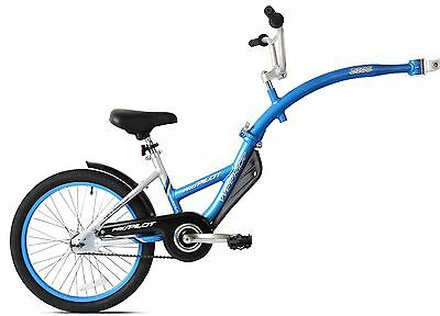 WeeRide Pro Pilot Tagalong Blue Child Bike Extension Trailer Toddler Bicycle