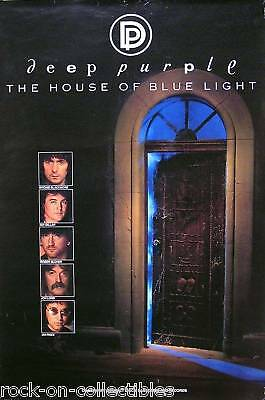 Deep Purple 1987 House Of The Blue Light  Original Promo Poster Sealed Jon Lord