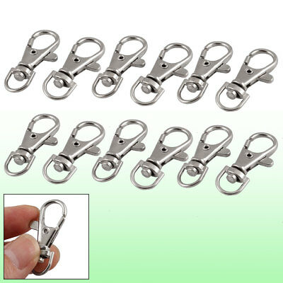 Metal Split Ring Trigger Lobster Clasp 12pcs for Key Chain Keyring