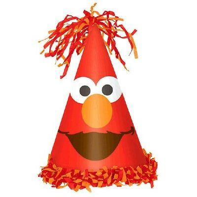 Elmo Turns One 1 Cone Hat with Fringe 1st Birthday Party Sesame Street