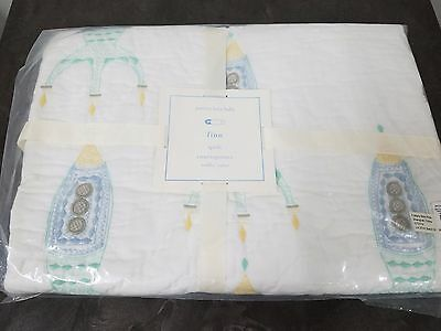 Pottery Barn Kids Finn Rocket Toddler Baby Crib Quilt