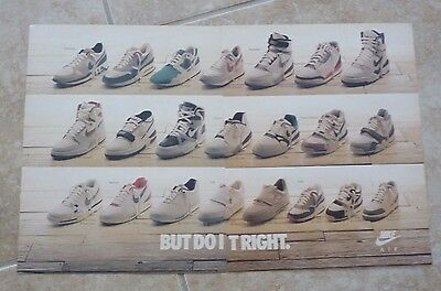 "Nike Shoes Vintage 1988 2 Page Magazine Ad 12"" x 19"" Air Jordans"