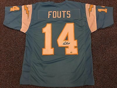 pretty nice 4113c 2511b DAN FOUTS SAN Diego Chargers Signed Xl Jersey Jsa Witnessed Authentication