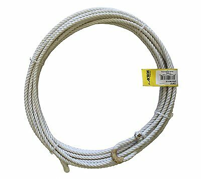 "Super Pro Nylon Rodeo Lariat Cowboy Rope Rawhide Burner 3/8"" by 35' Hard-Medium"
