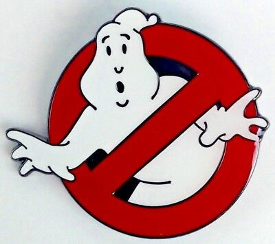 GHOST BUSTERS Classic 1984 & 2016 Movie Logo - Large 1-1/2 Inch Enamel Pin