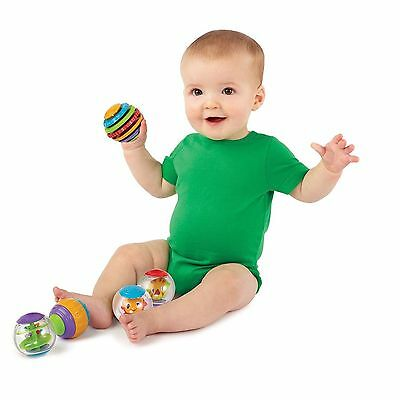 Fun Time Roll & Spin Bubble Balls Baby Toddler Activity Floating Bath Toy 0+ mth